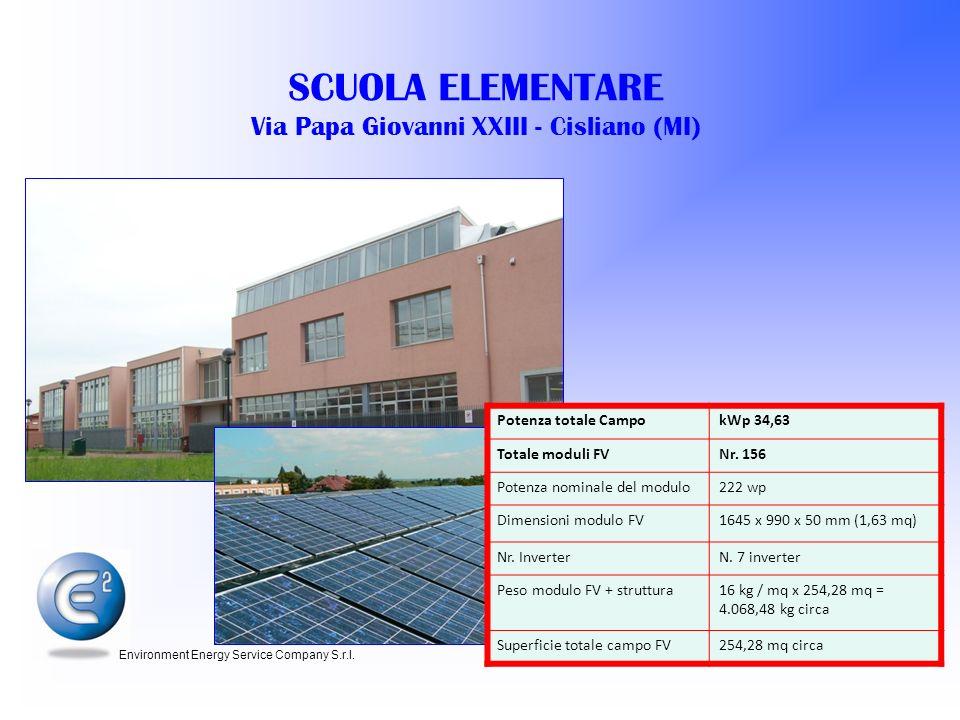 SCUOLA ELEMENTARE Via Papa Giovanni XXIII - Cisliano (MI)