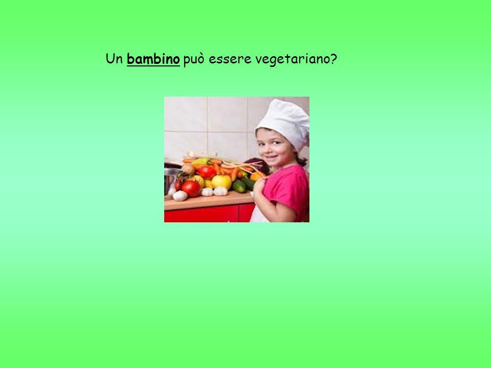 Un bambino può essere vegetariano