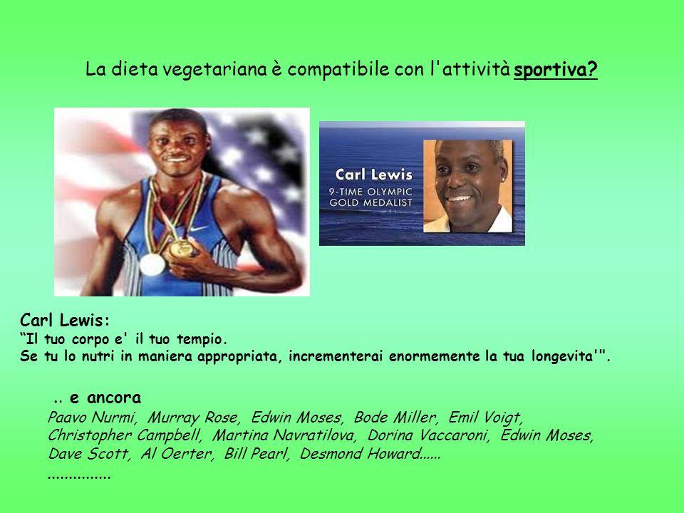 La dieta vegetariana è compatibile con l attività sportiva