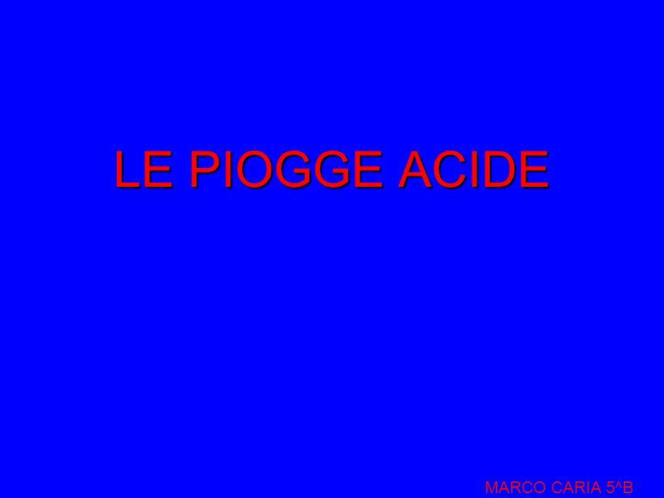 LE PIOGGE ACIDE MARCO CARIA 5^B