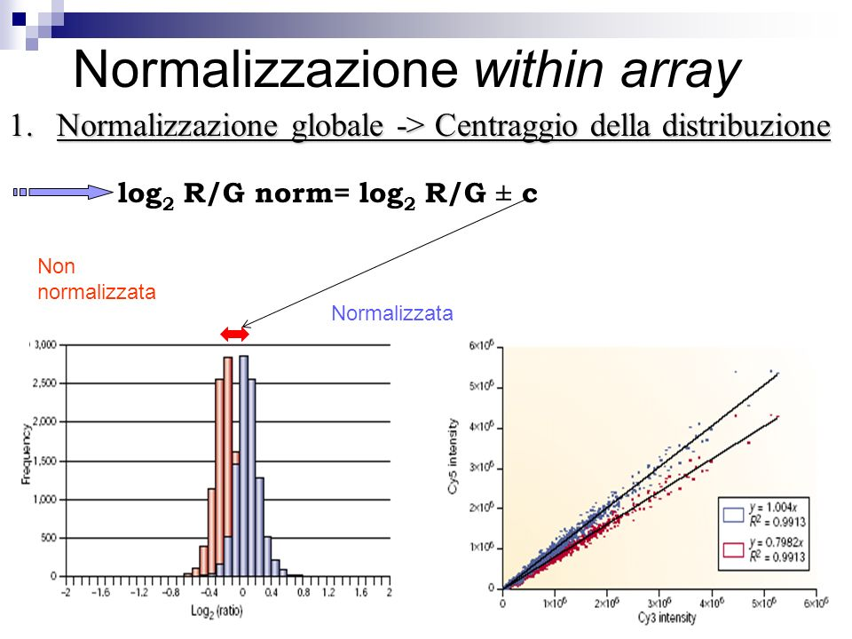 Normalizzazione within array