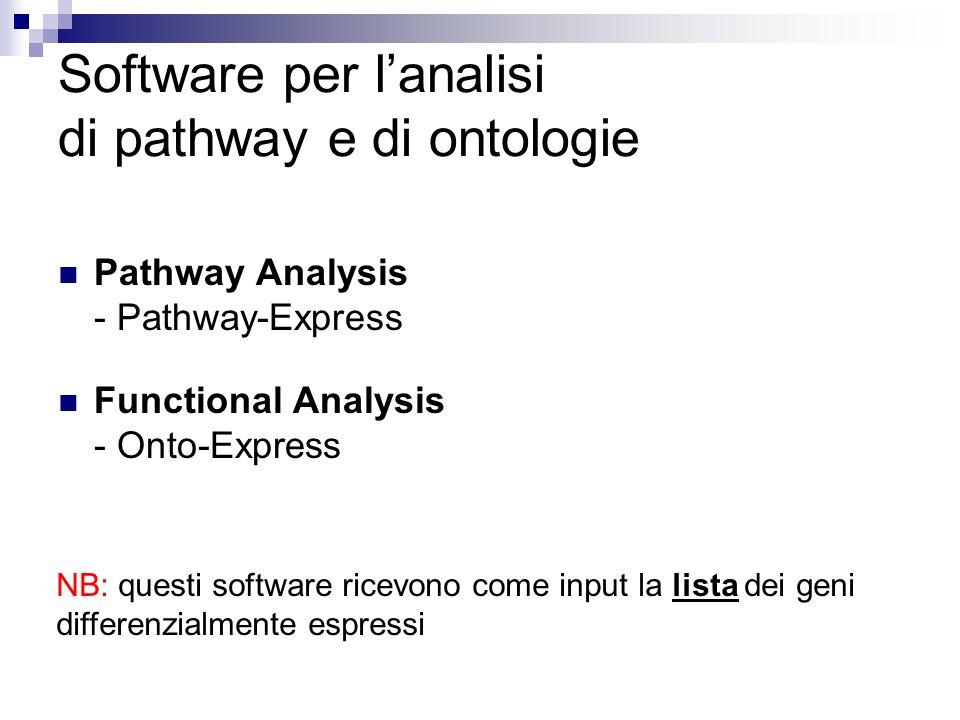 Software per l'analisi di pathway e di ontologie