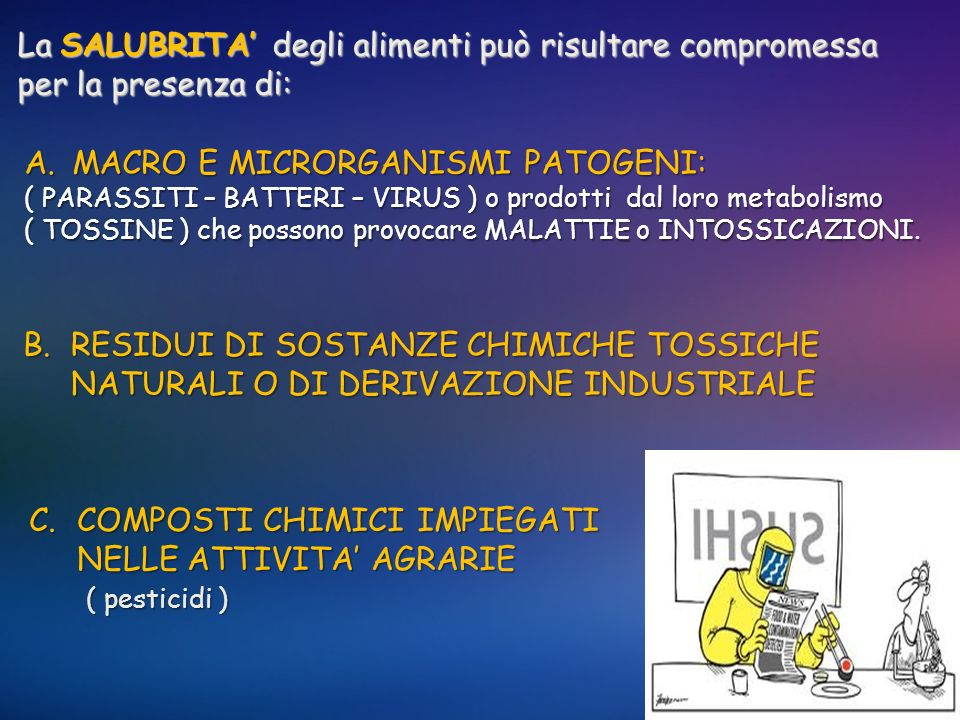 MACRO E MICRORGANISMI PATOGENI: