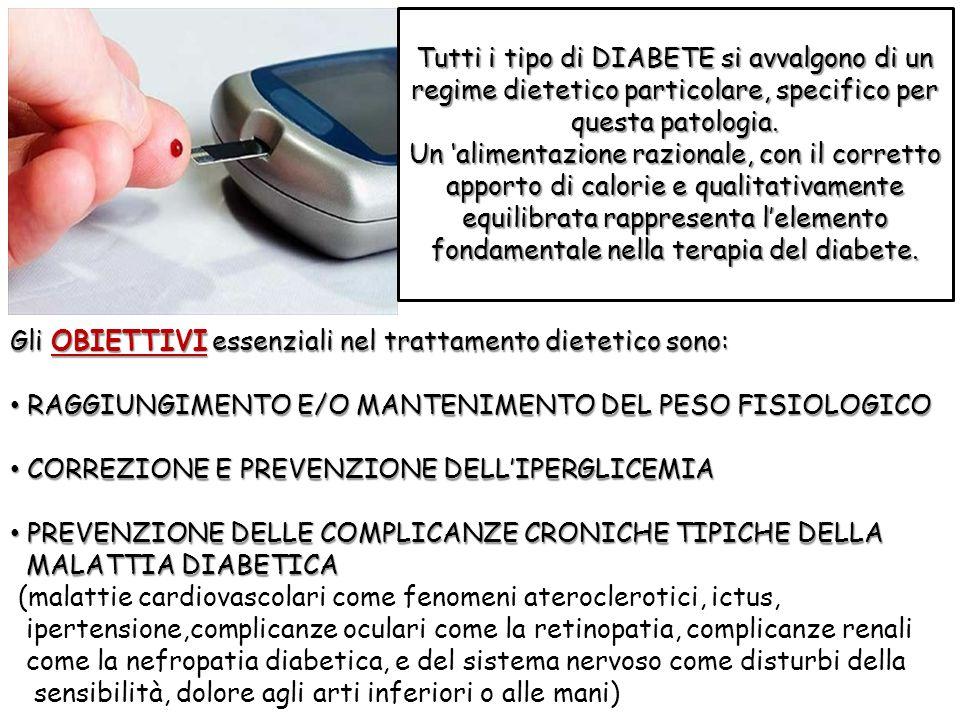 Tutti i tipo di DIABETE si avvalgono di un regime dietetico particolare, specifico per questa patologia.
