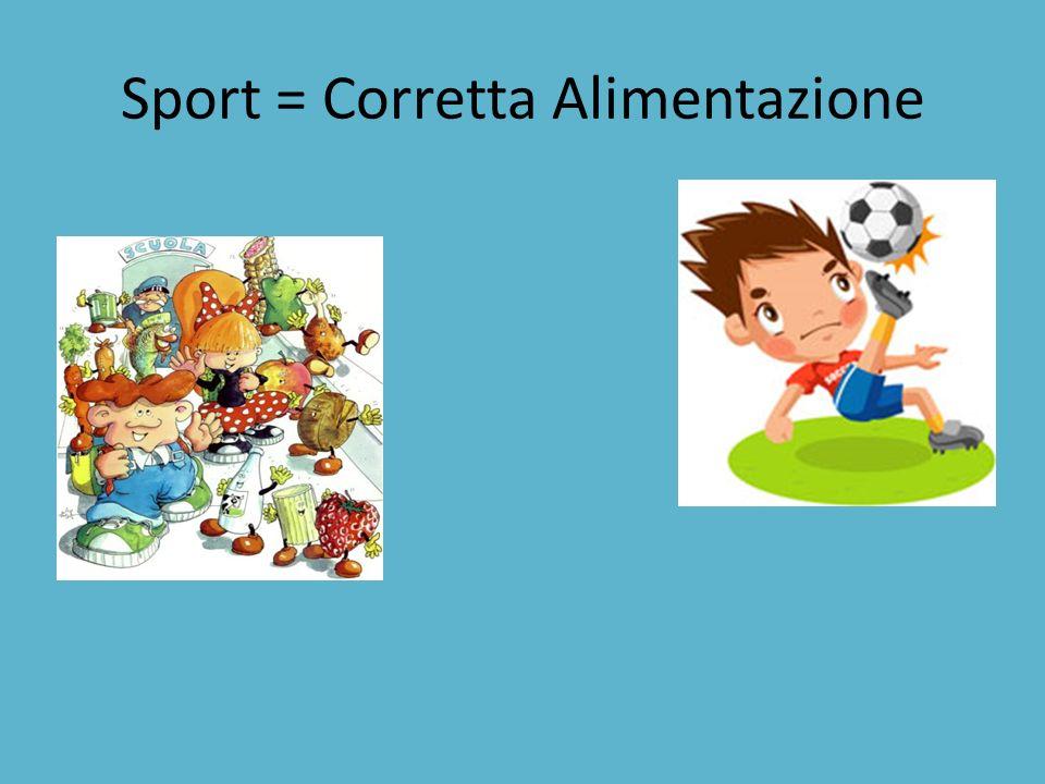Sport = Corretta Alimentazione
