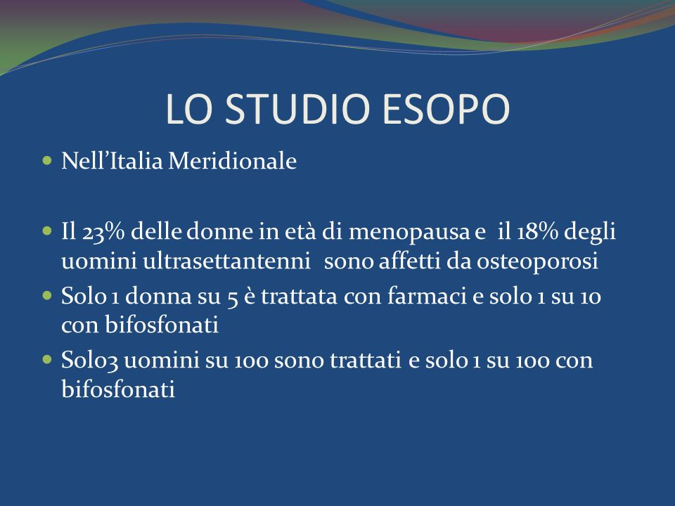 LO STUDIO ESOPO Nell'Italia Meridionale