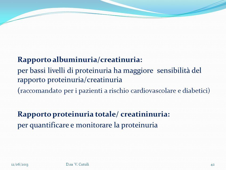 Rapporto albuminuria/creatinuria: