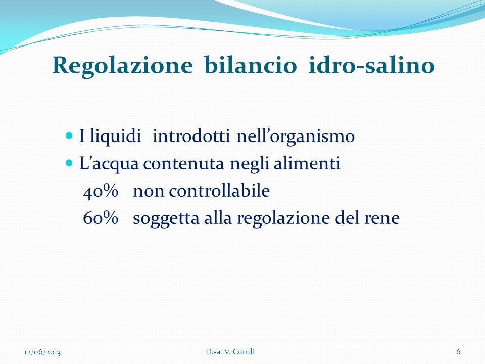 Regolazione bilancio idro-salino