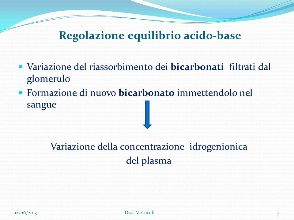 Regolazione equilibrio acido-base