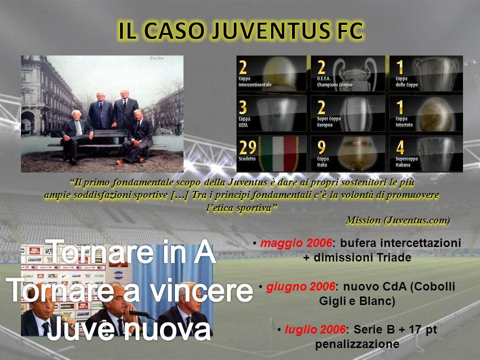 Tornare in A Tornare a vincere Juve nuova IL CASO JUVENTUS FC
