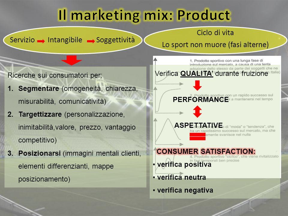 Il marketing mix: Product