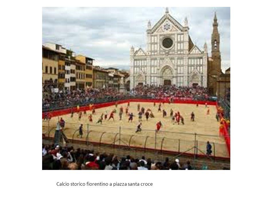 Calcio storico fiorentino a piazza santa croce
