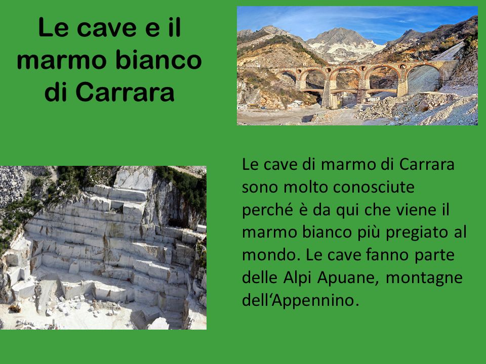 Le cave e il marmo bianco di Carrara