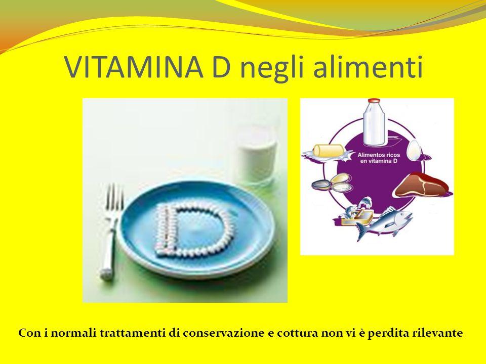 VITAMINA D negli alimenti