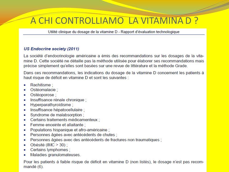 A CHI CONTROLLIAMO LA VITAMINA D