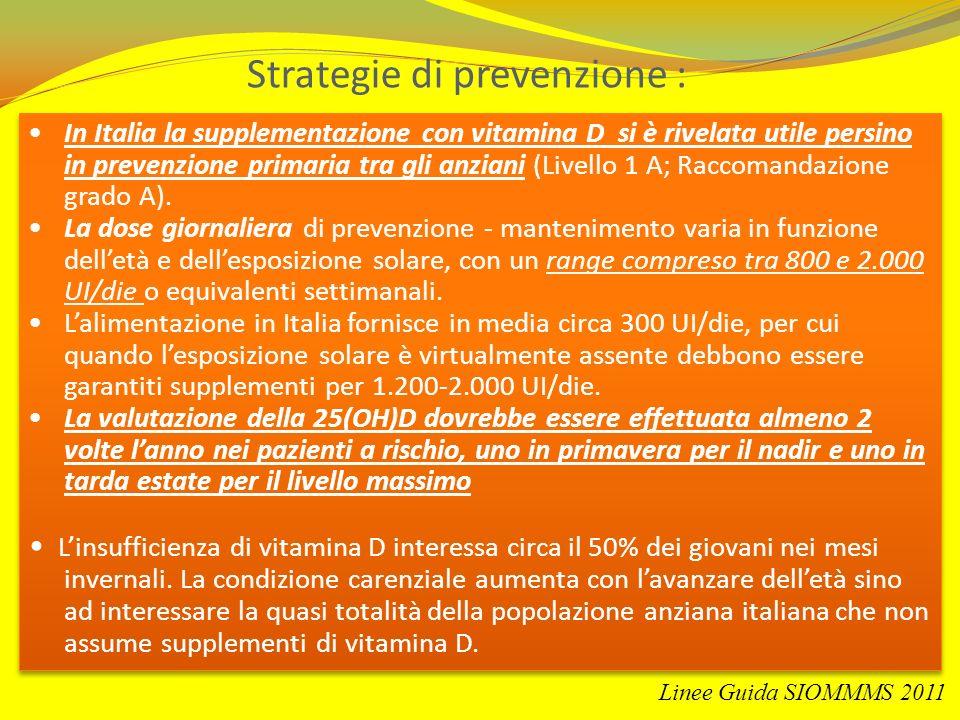 Strategie di prevenzione :