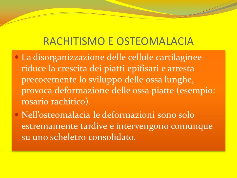 RACHITISMO E OSTEOMALACIA