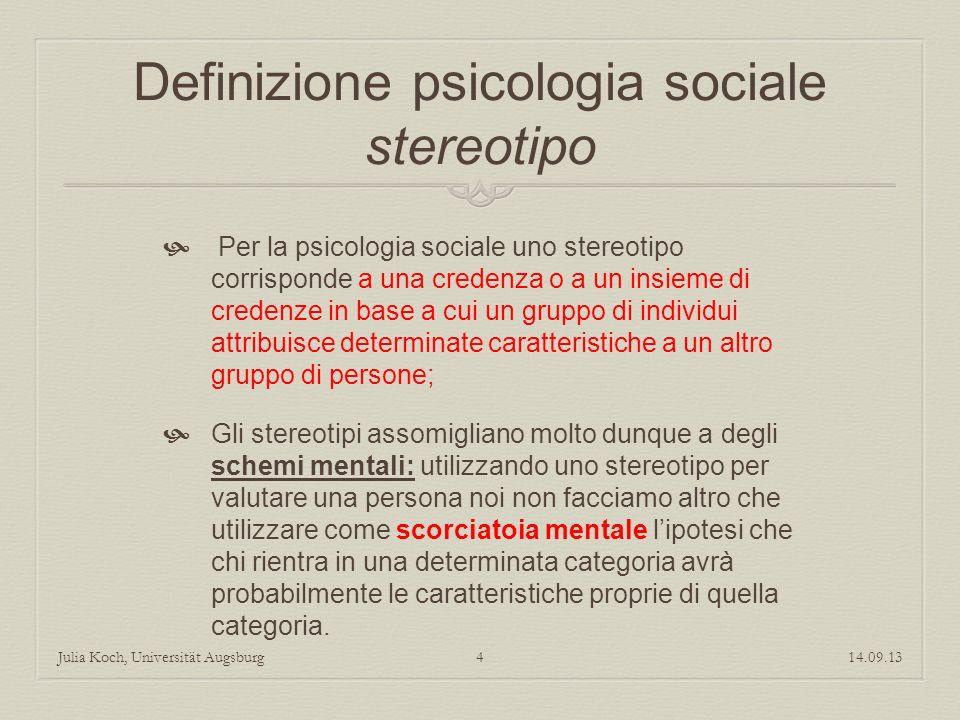 Definizione psicologia sociale stereotipo