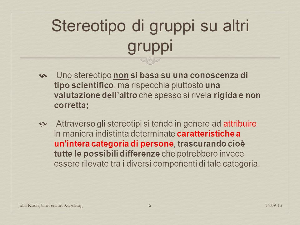 Stereotipo di gruppi su altri gruppi