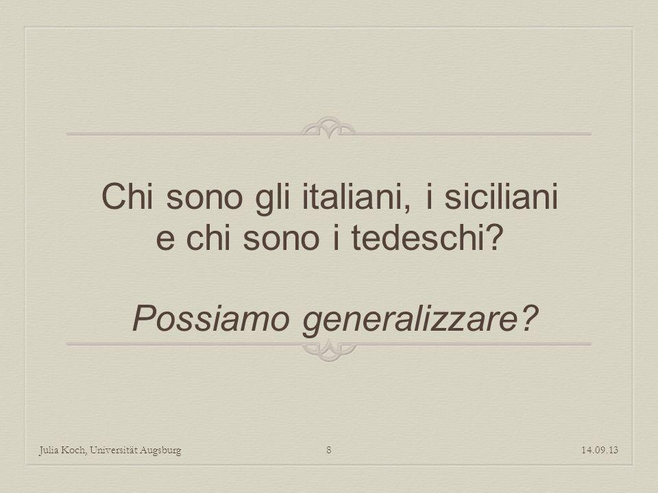 Chi sono gli italiani, i siciliani e chi sono i tedeschi