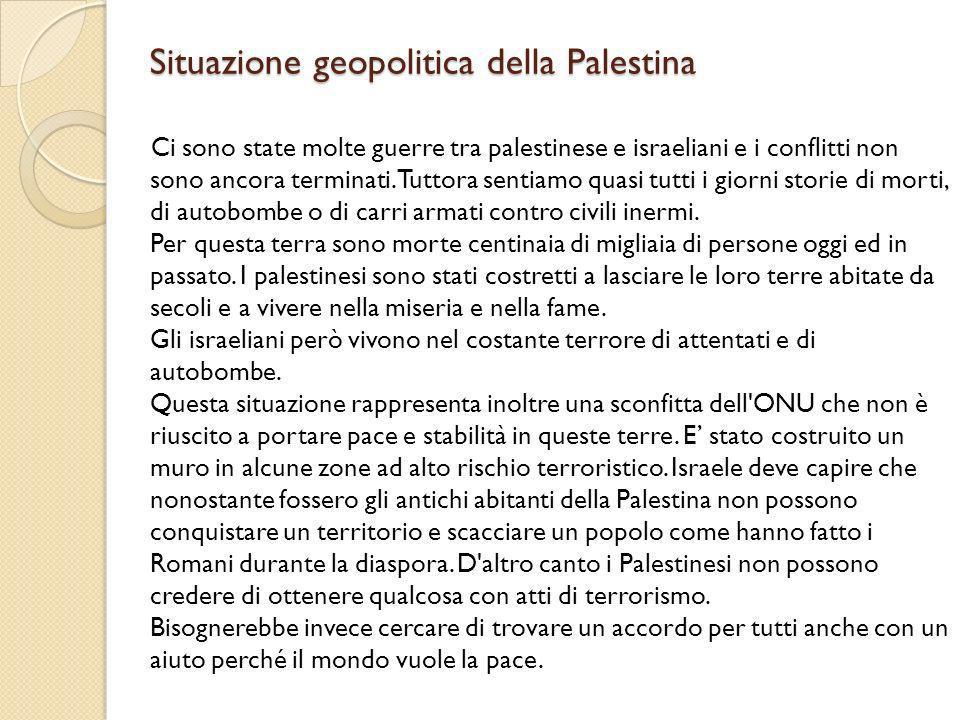 Situazione geopolitica della Palestina