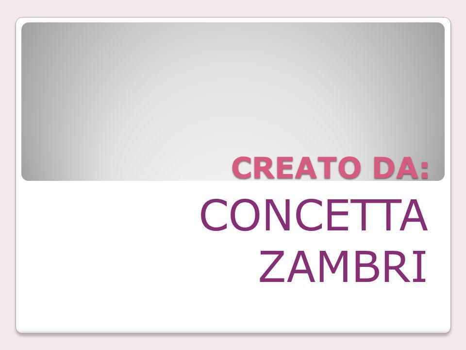 CREATO DA: CONCETTA ZAMBRI
