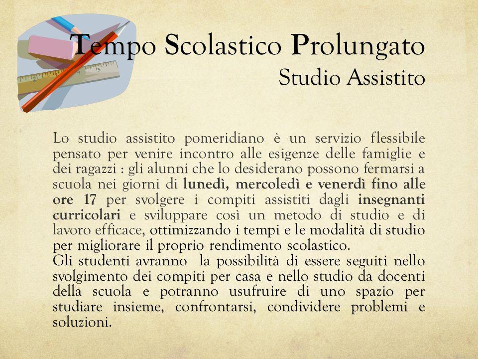 Tempo Scolastico Prolungato Studio Assistito
