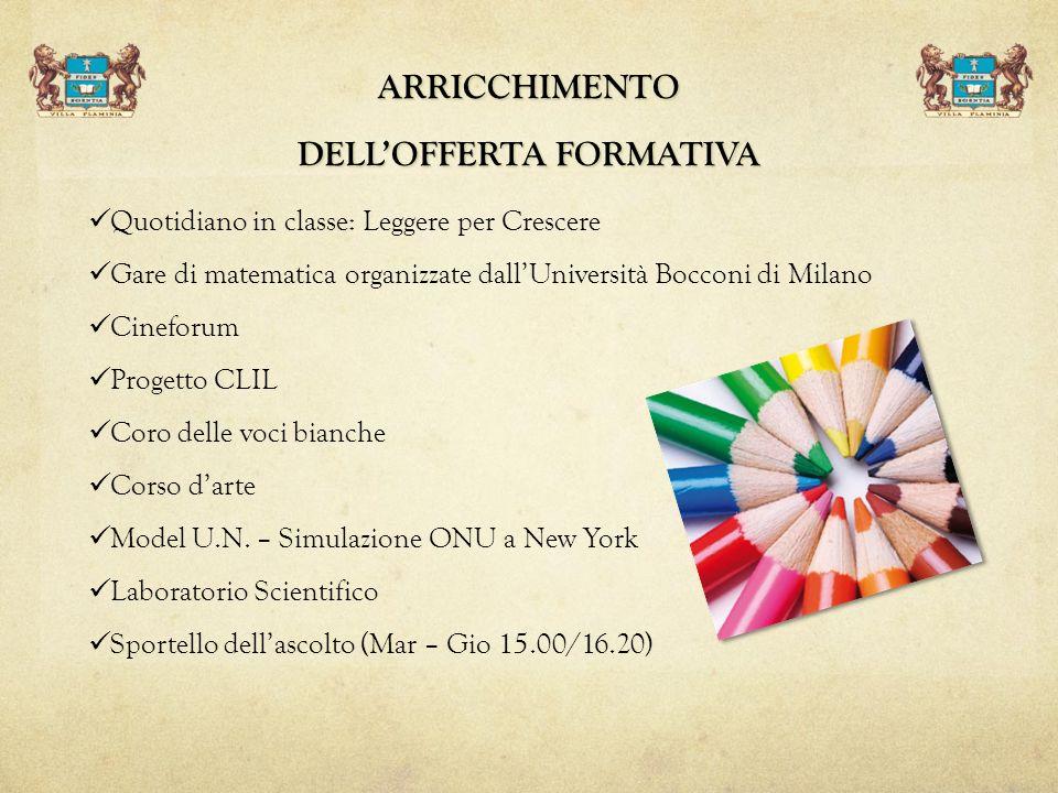 ARRICCHIMENTO DELL'OFFERTA FORMATIVA