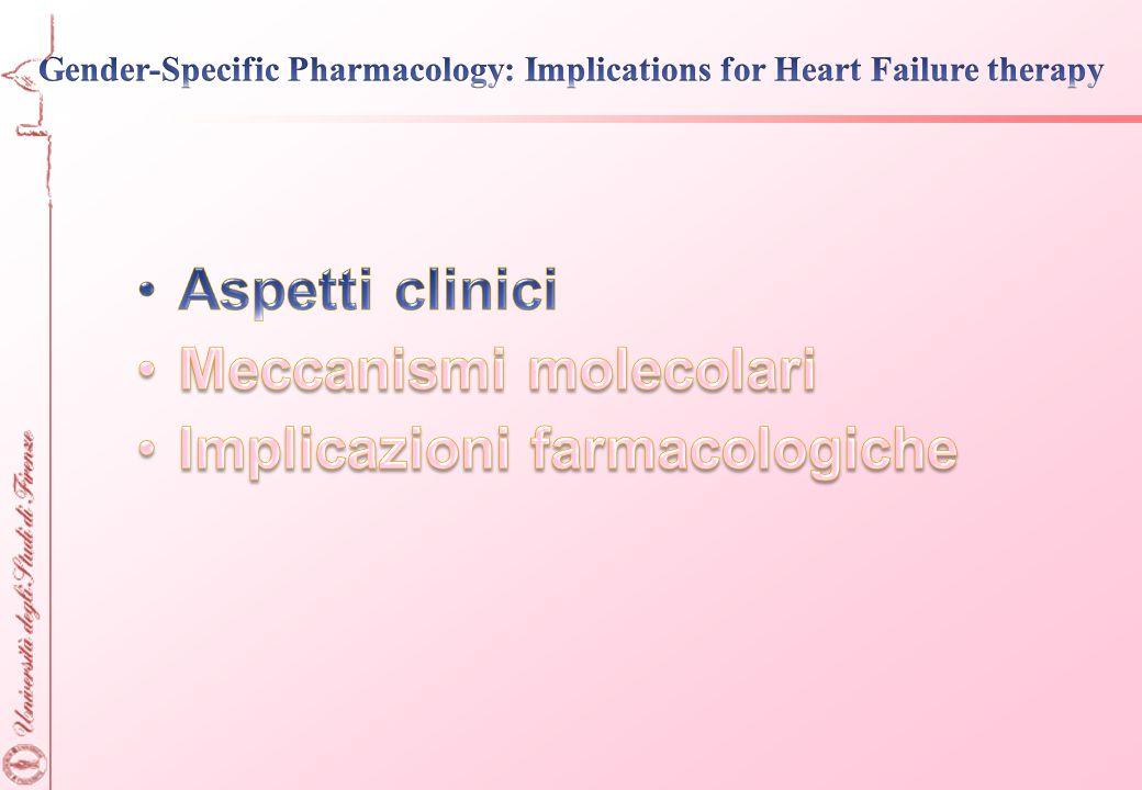 Meccanismi molecolari Implicazioni farmacologiche