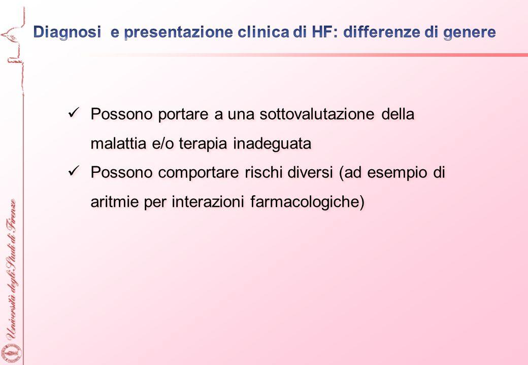 Diagnosi e presentazione clinica di HF: differenze di genere