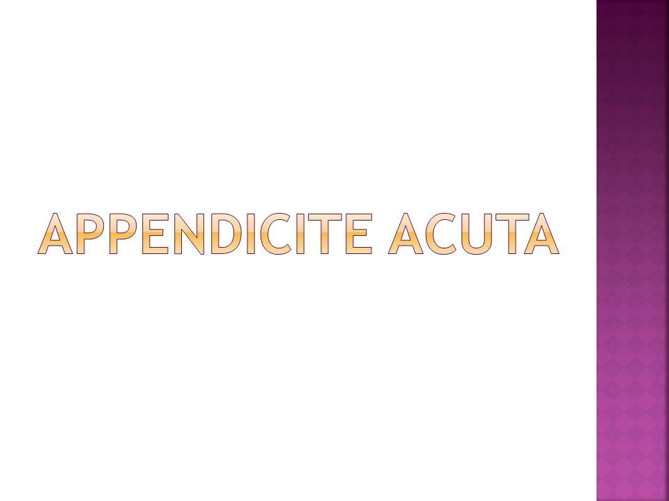 APPENDICITE ACUTA