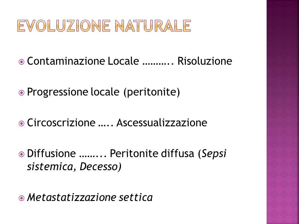 EVOLUZIONE NATURALE Contaminazione Locale ……….. Risoluzione