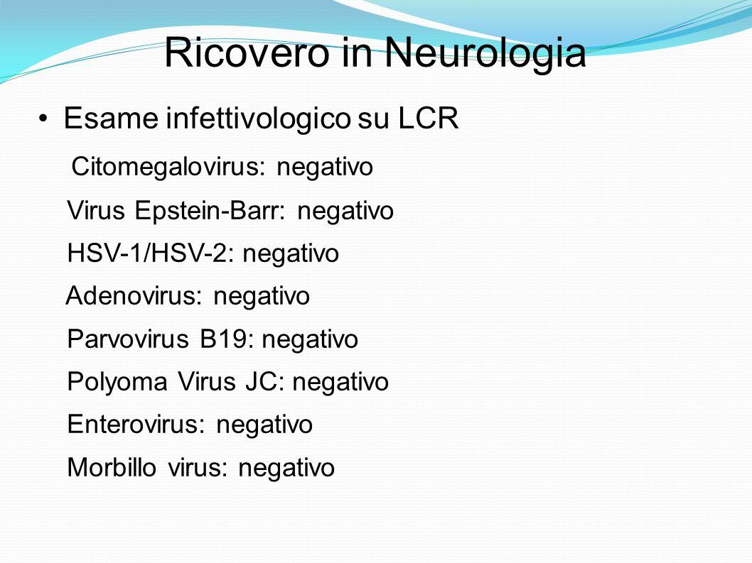 Ricovero in Neurologia