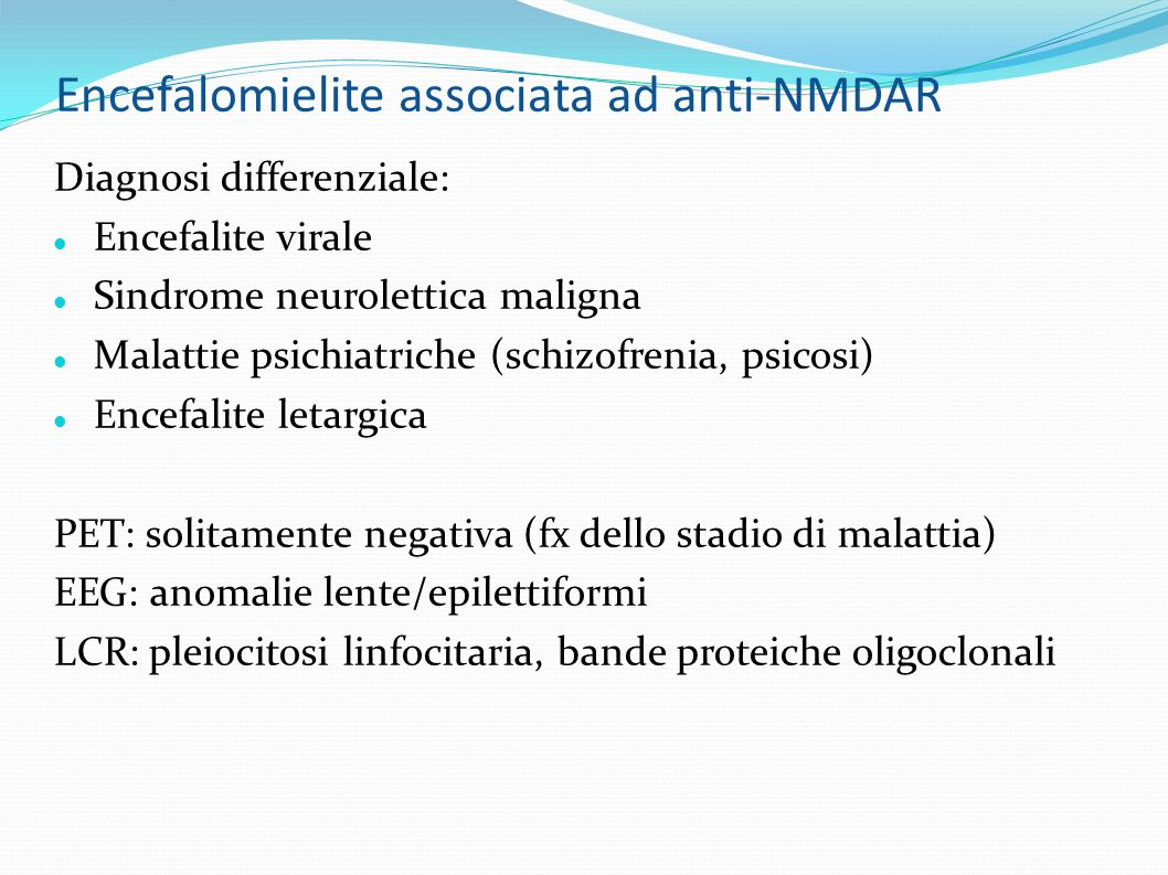 Encefalomielite associata ad anti-NMDAR