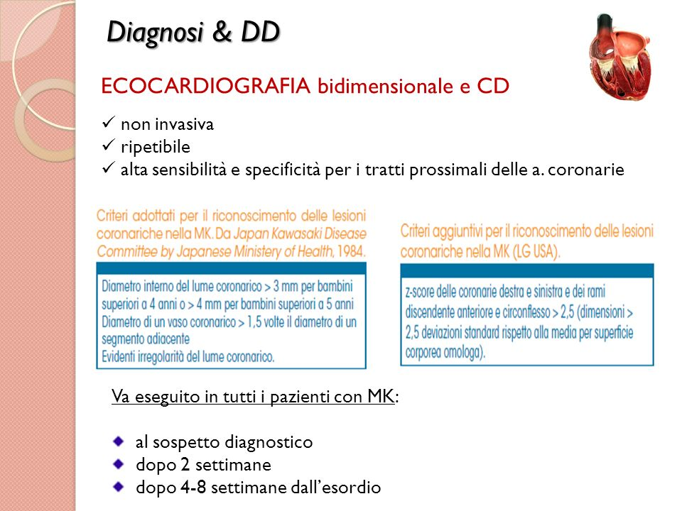 Diagnosi & DD ECOCARDIOGRAFIA bidimensionale e CD non invasiva