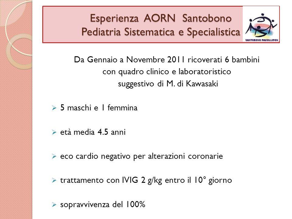 Esperienza AORN Santobono Pediatria Sistematica e Specialistica