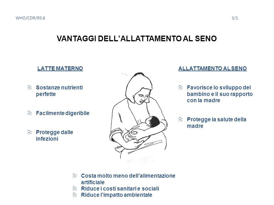 VANTAGGI DELL'ALLATTAMENTO AL SENO