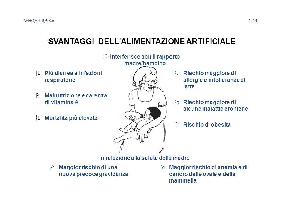 SVANTAGGI DELL'ALIMENTAZIONE ARTIFICIALE