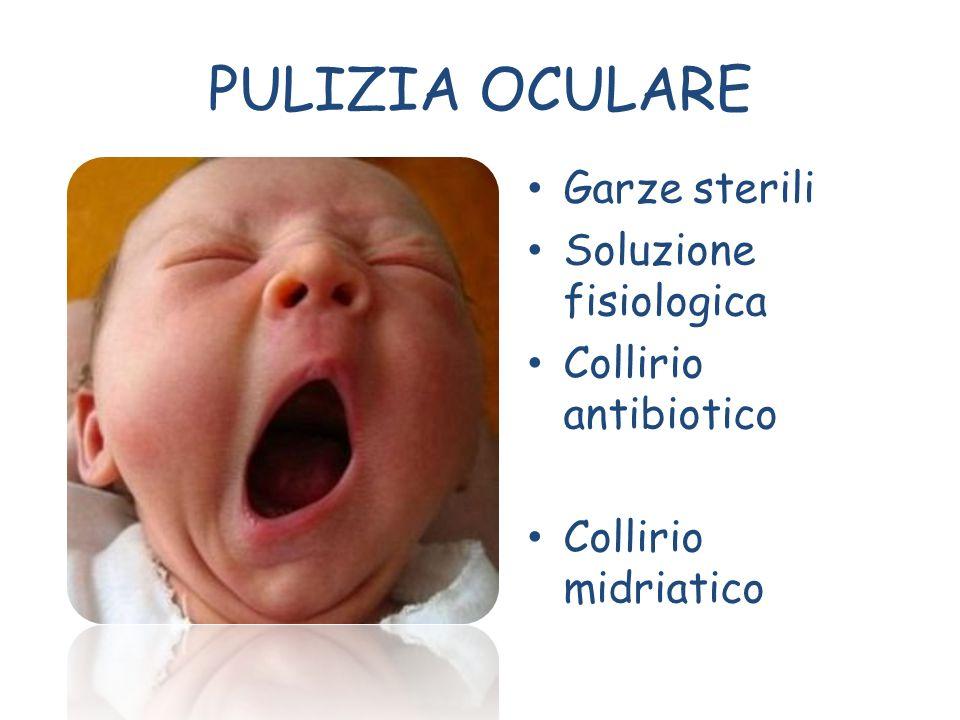 PULIZIA OCULARE Garze sterili Soluzione fisiologica