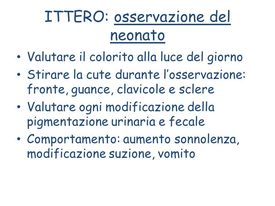 ITTERO: osservazione del neonato