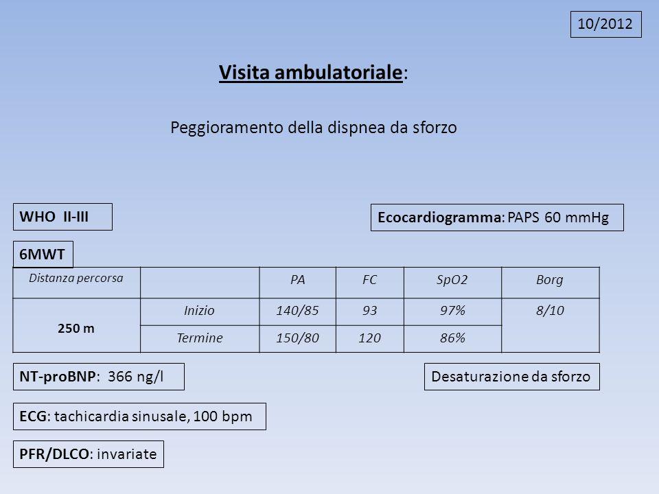 Visita ambulatoriale: Peggioramento della dispnea da sforzo