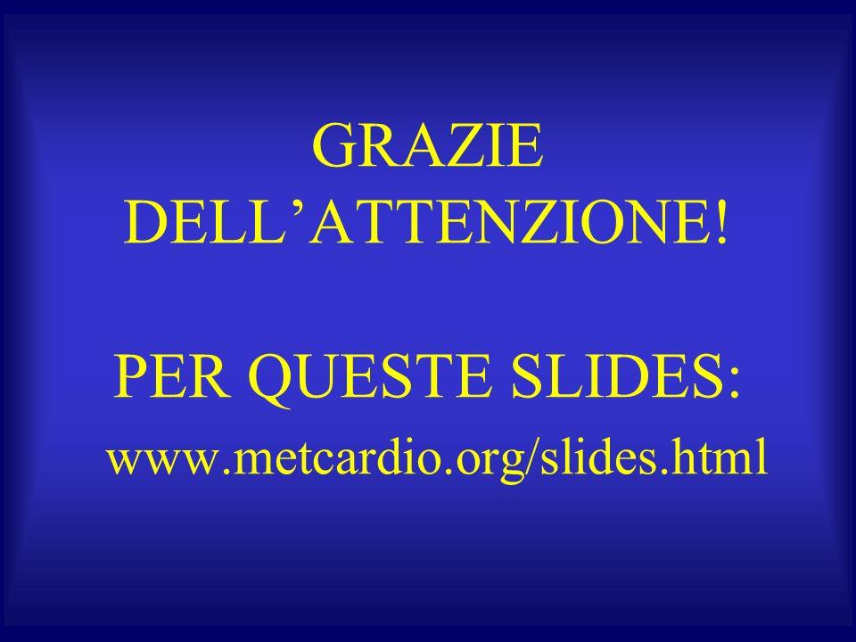 GRAZIE DELL'ATTENZIONE. PER QUESTE SLIDES: www. metcardio. org/slides