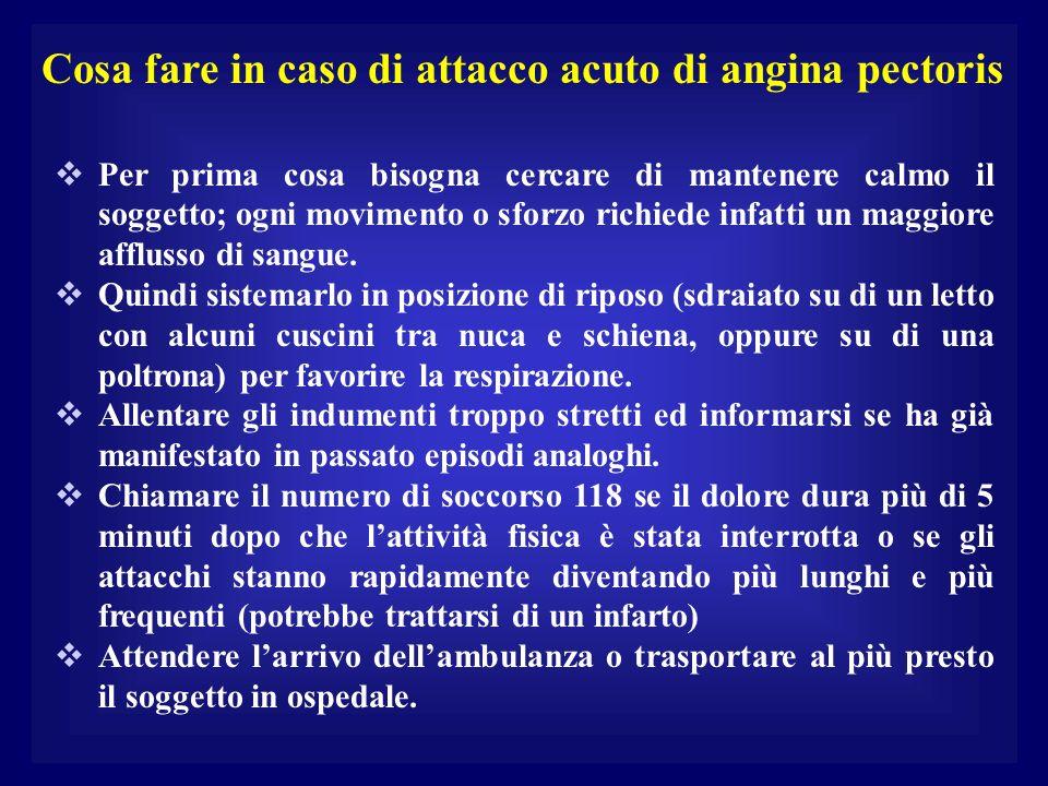Cosa fare in caso di attacco acuto di angina pectoris