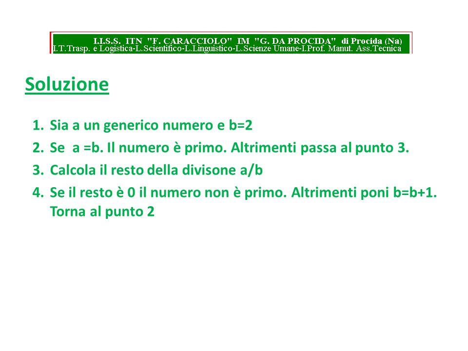 Soluzione Sia a un generico numero e b=2