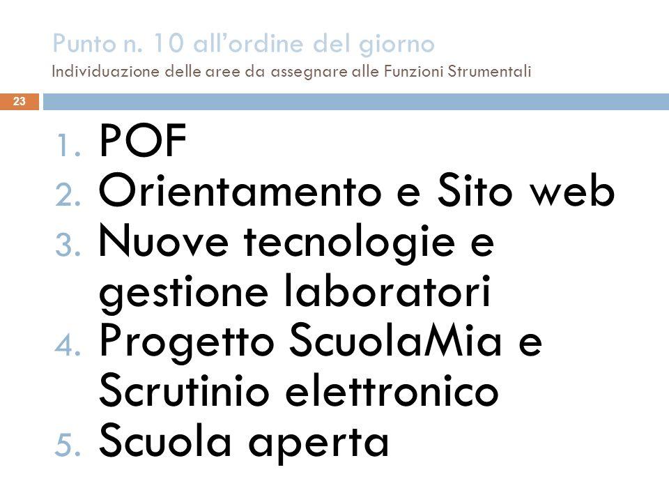 Orientamento e Sito web Nuove tecnologie e gestione laboratori