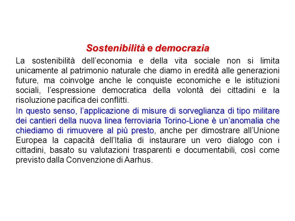 Sostenibilità e democrazia