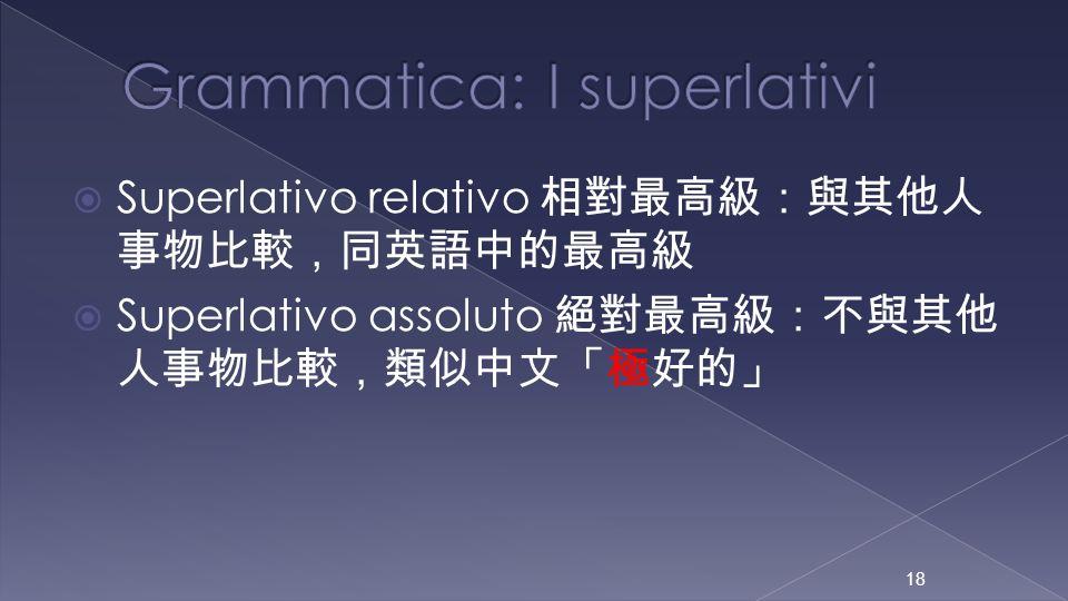 Grammatica: I superlativi