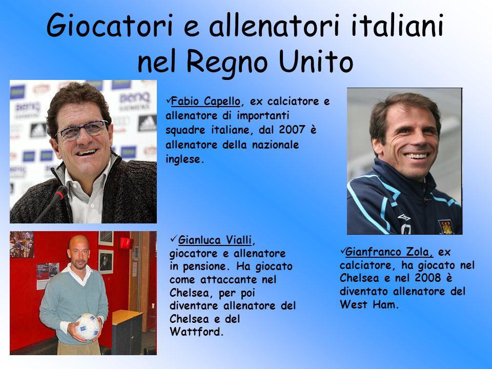 Giocatori e allenatori italiani nel Regno Unito