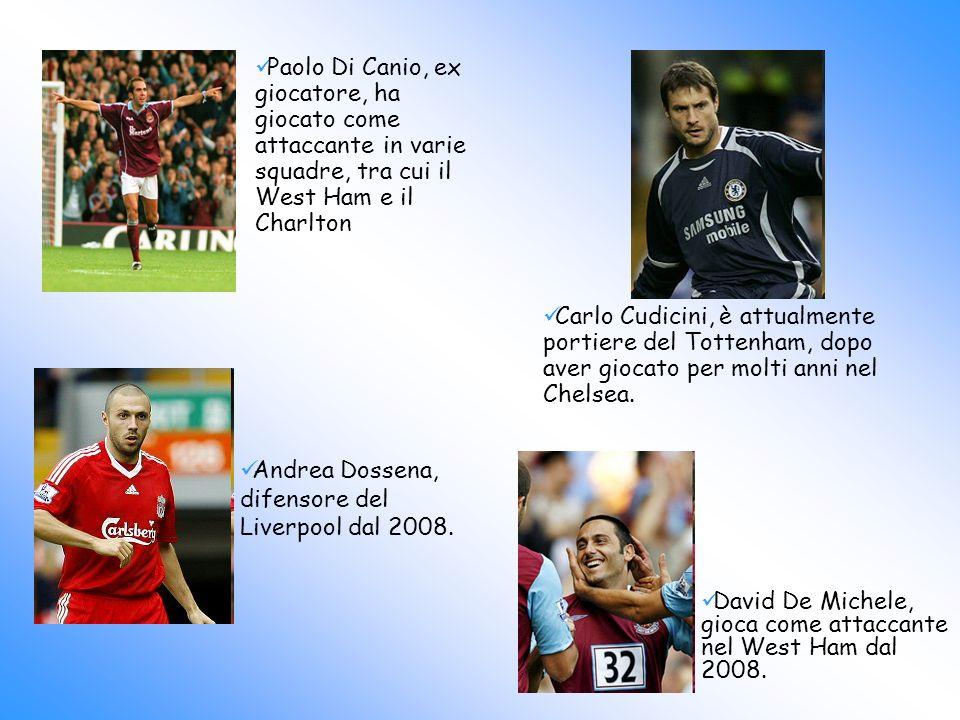 Paolo Di Canio, ex giocatore, ha giocato come attaccante in varie squadre, tra cui il West Ham e il Charlton
