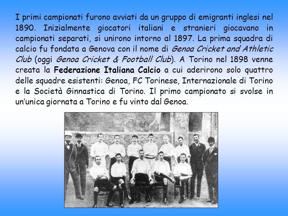 I primi campionati furono avviati da un gruppo di emigranti inglesi nel 1890.